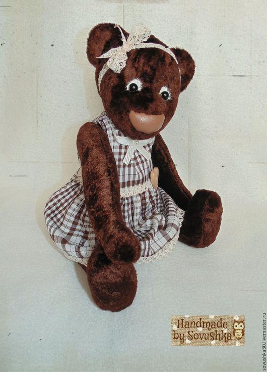 Мишки Тедди ручной работы. Ярмарка Мастеров - ручная работа. Купить Бесплатная пересылка Большая игровая тедди мишка Шоколадка 33см. Handmade.