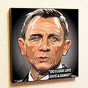 Картины и панно handmade. Livemaster - original item Picture Poster of James Bond-2 in the style of Pop Art. Handmade.