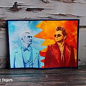 Канцелярские товары handmade. Livemaster - original item Leather passport cover Good Omens. Handmade.