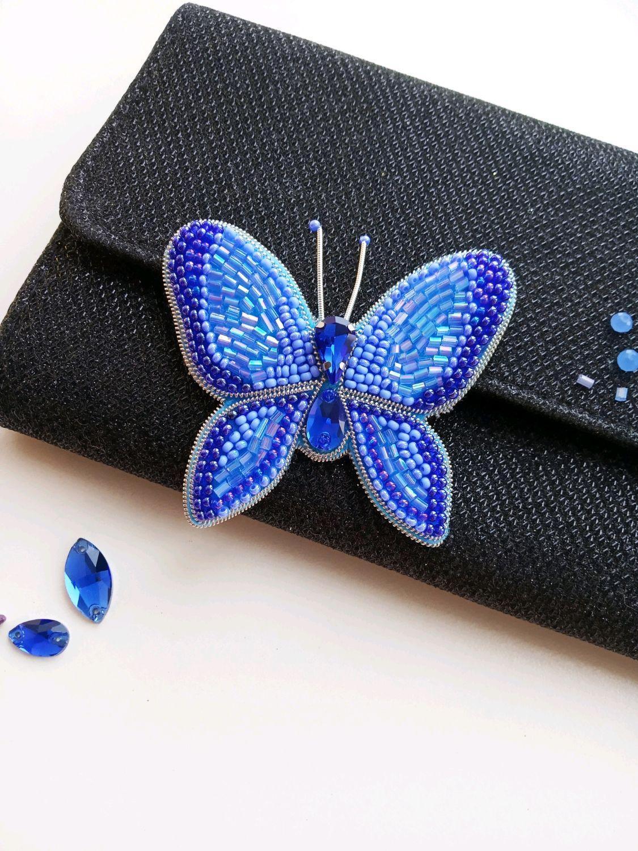 Броши бабочки, Елочные игрушки, Могоча,  Фото №1
