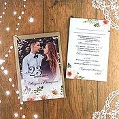 Приглашения ручной работы. Ярмарка Мастеров - ручная работа Свадебные приглашения - с вашим фото. Handmade.