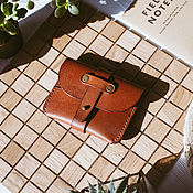 Сумки и аксессуары handmade. Livemaster - original item Leather business card holder wallet - Iowa. Handmade.