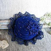 """Украшения ручной работы. Ярмарка Мастеров - ручная работа """"За синей звездой"""" брошь цветок из ткани. Handmade."""