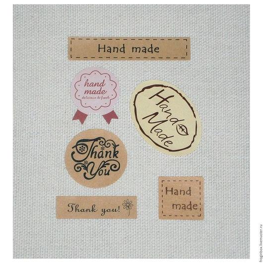 Наклейки `Hand Made` и `Thank You`
