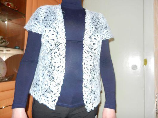 Пиджаки, жакеты ручной работы. Ярмарка Мастеров - ручная работа. Купить кружевной жакет. Handmade. Белый, кружево ручной работы