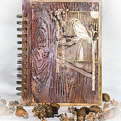 "Канцелярские товары ручной работы. Ярмарка Мастеров - ручная работа Блокнот ""Ночная хозяйка"". Handmade."