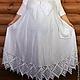 """Большие размеры ручной работы. Ярмарка Мастеров - ручная работа. Купить Платье длинное свободного кроя с коротким рукавом """"Белый Лен"""". Handmade."""