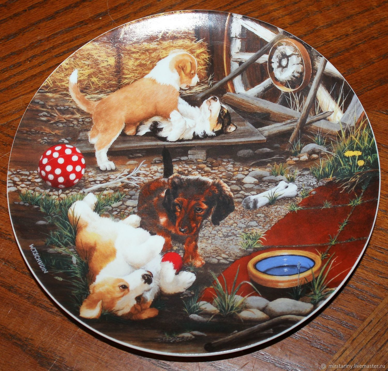 Merry plates series 'the Little rascals', Switzerland, Vintage interior, Moscow,  Фото №1