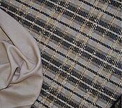 Ткани ручной работы. Ярмарка Мастеров - ручная работа Костюмный твид в клетку. Handmade.
