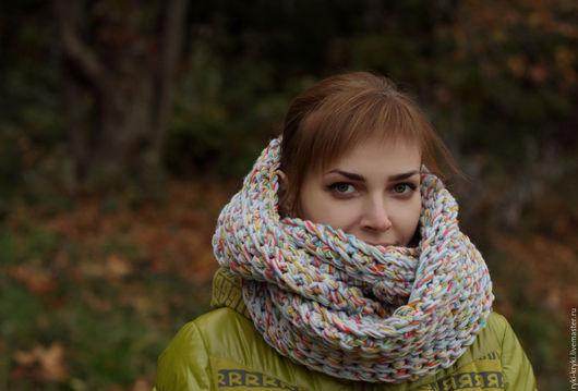 Шарфы и шарфики ручной работы. Ярмарка Мастеров - ручная работа. Купить Настроение. Handmade. Комбинированный, снуд, снуд шарф хомут