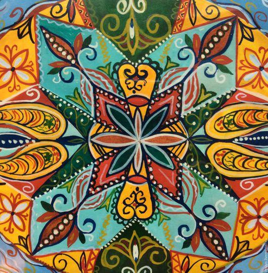 Этно ручной работы. Ярмарка Мастеров - ручная работа. Купить Мандала Керала. Handmade. Мандала, интерьерная картина