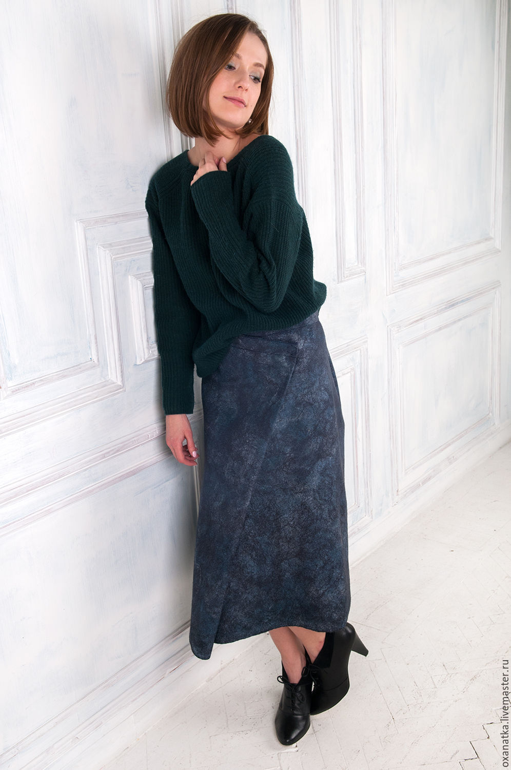 Felted Denim skirt, Skirts, Moscow,  Фото №1