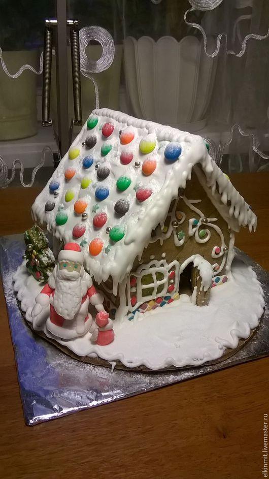 Новый год 2017 ручной работы. Ярмарка Мастеров - ручная работа. Купить Пряничный домик. Handmade. Белый, пряник имбирный, подарок