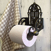 Для дома и интерьера ручной работы. Ярмарка Мастеров - ручная работа Держатель для туалетной бумаги Ночь улица фонарь аптека. Handmade.