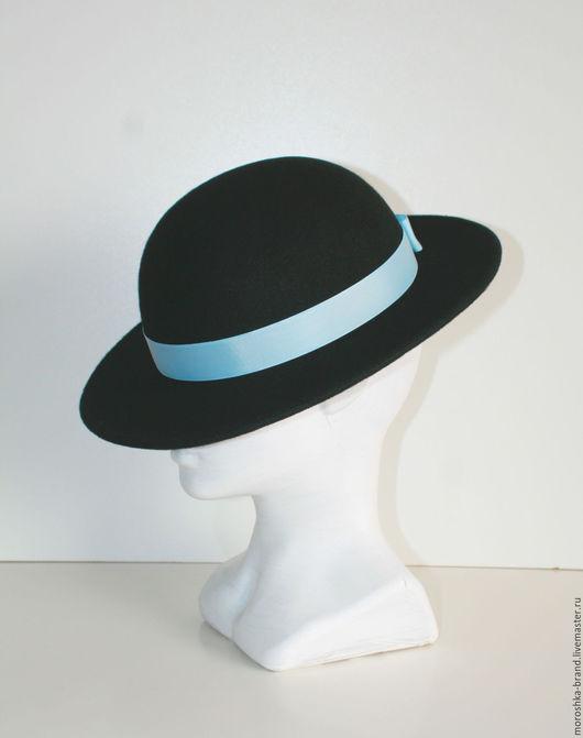 Шляпы ручной работы. Ярмарка Мастеров - ручная работа. Купить Чёрная шляпа из фетра. Handmade. Черный, шляпа с полями