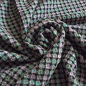 Материалы для творчества ручной работы. Ярмарка Мастеров - ручная работа Итальянская шерстяная костюмная ткань в стиле шанель 1170р.. Handmade.