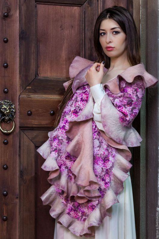 """Шали, палантины ручной работы. Ярмарка Мастеров - ручная работа. Купить Палантин """" Цветущий сад"""".. Handmade. Розовый, аксессуары"""