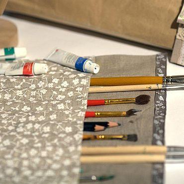 Канцелярские товары ручной работы. Ярмарка Мастеров - ручная работа Пеналы: Пенал для карандашей. Handmade.