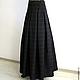 Юбки ручной работы. Ярмарка Мастеров - ручная работа. Купить Длинная юбка в пол из элитной шерсти. Handmade.