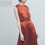 """Одежда ручной работы. Ярмарка Мастеров - ручная работа Платье красное """"Медь"""" Платье красное. Платье красное. Платье красное.. Handmade."""