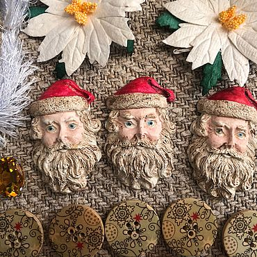Материалы для творчества ручной работы. Ярмарка Мастеров - ручная работа Винтажный набор для творчества #2 - Рождество. Handmade.