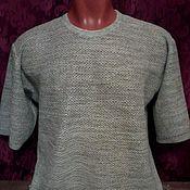 Одежда handmade. Livemaster - original item T-shirts: 100%linen men`s FLAKE t-shirt. Handmade.