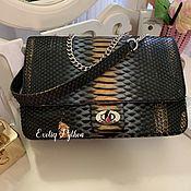 Сумки и аксессуары handmade. Livemaster - original item Luiza Python leather bag. Handmade.