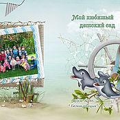 """Фотокартины ручной работы. Ярмарка Мастеров - ручная работа Шаблон для выпускной фотокниги ``Дельфины"""". Handmade."""