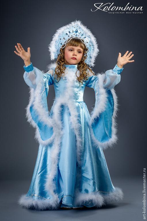 Карнавальные костюмы ручной работы. Ярмарка Мастеров - ручная работа. Купить Костюм Снегурочки. Handmade. Голубой, пух