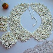 Аксессуары handmade. Livemaster - original item Irish lace. The collar and cuffs