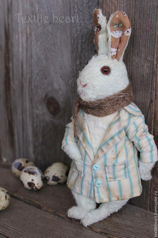 Мишки Тедди ручной работы. Ярмарка Мастеров - ручная работа. Купить Пасхальный кролик.... Handmade. Мятный, заяц тедди
