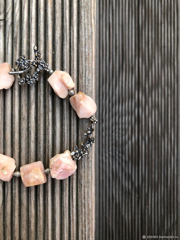Bracelet of SAKURA. Natural pink opal, Anna Chernykh accessories, Bead bracelet, Moscow,  Фото №1