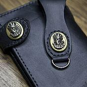 Классическая сумка ручной работы. Ярмарка Мастеров - ручная работа Байкерское портмоне из натуральной кожи. Handmade.