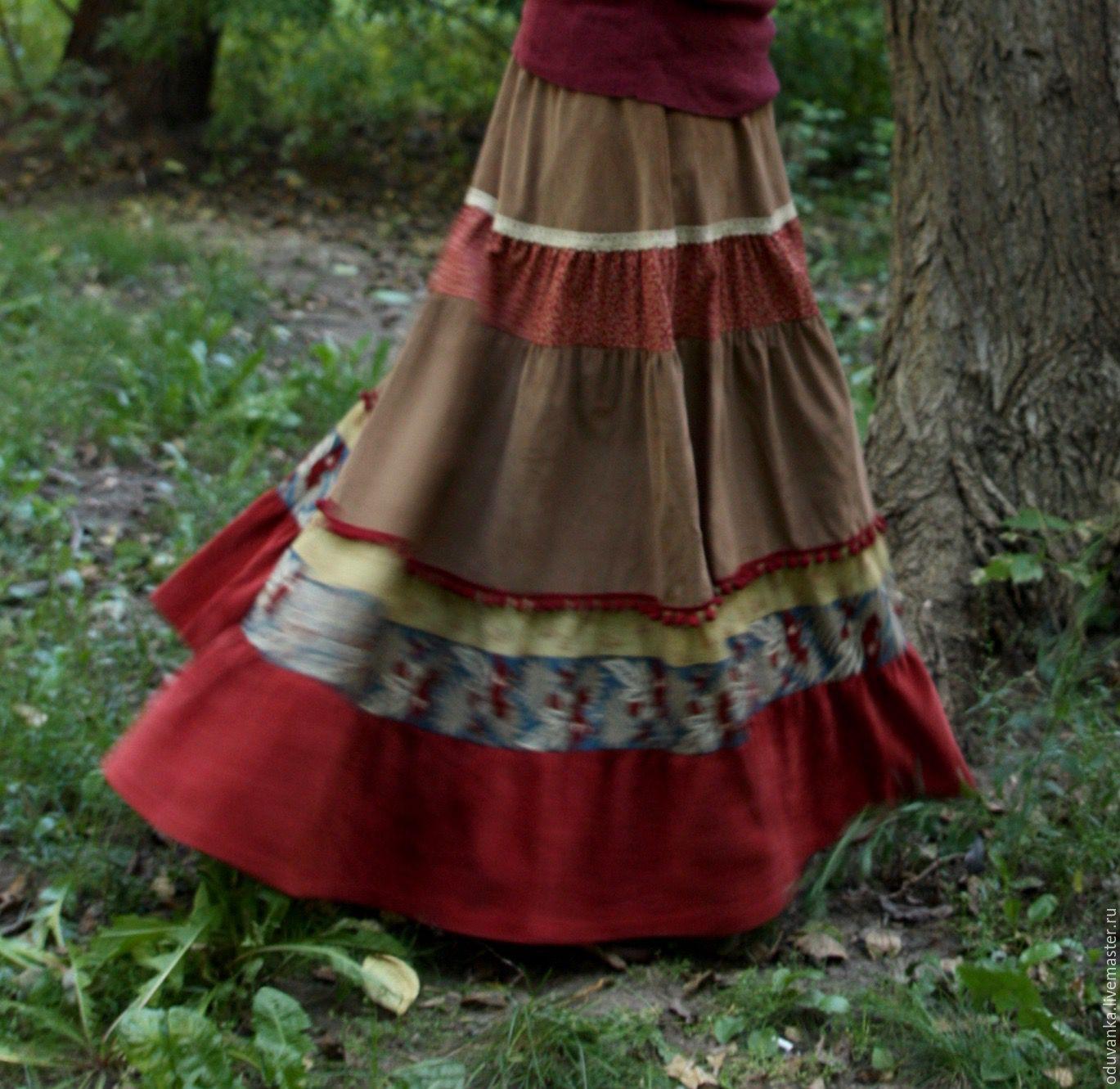 Трикотажные шитые юбки