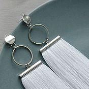 Украшения handmade. Livemaster - original item White tassel earrings. Handmade.