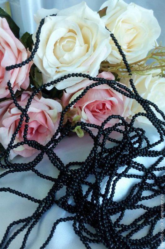 Для украшений ручной работы. Ярмарка Мастеров - ручная работа. Купить Бусины (3 мм) (черный). Handmade. Черный, бусины