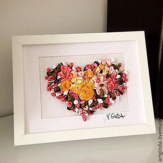 """Фантазийные сюжеты ручной работы. Ярмарка Мастеров - ручная работа. Купить """"Ты в моем сердце"""". Handmade. Разноцветный, подарок девушке"""