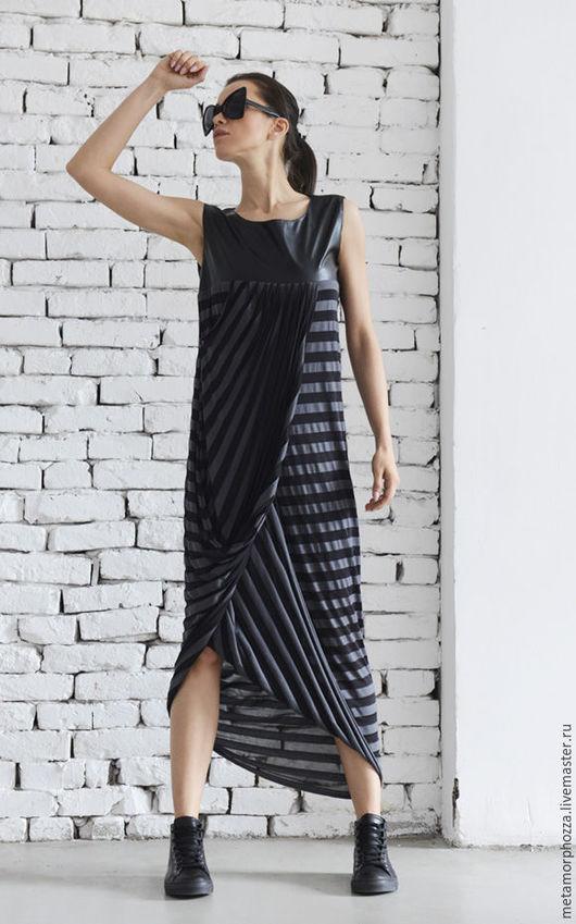 Платья ручной работы. Ярмарка Мастеров - ручная работа. Купить Длинное платье в полоску. Handmade. Длинное платье, платье в полоску