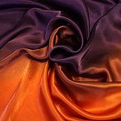 Аксессуары ручной работы. Ярмарка Мастеров - ручная работа Батик платок Violet and Flame 1. Handmade.
