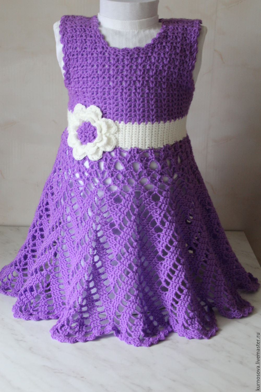 Детский сарафан для девочки вязание