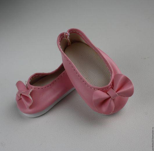 Одежда для кукол ручной работы. Ярмарка Мастеров - ручная работа. Купить Туфельки розовые  для куклы 5,5 см.. Handmade.