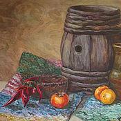 Картины ручной работы. Ярмарка Мастеров - ручная работа Натюрморт в старинном стиле (Ирина). Handmade.