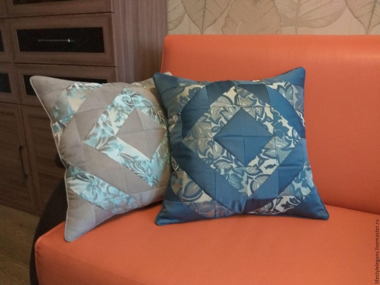 Декоративные подушки для дивана своими руками