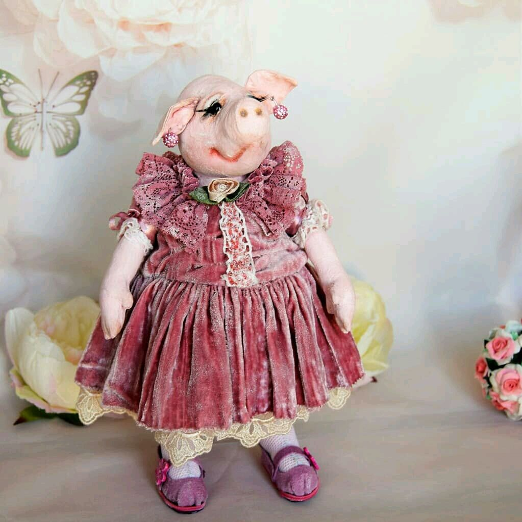 Pig with pictures, Stuffed Toys, Kaliningrad,  Фото №1