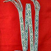 Русский стиль ручной работы. Ярмарка Мастеров - ручная работа Пояс тканый на бердо со славянским узором. Handmade.