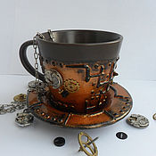 Подарки к праздникам handmade. Livemaster - original item Mug in the style of steampunk (steampunk). Handmade.
