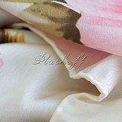 """Платки ручной работы. Ярмарка Мастеров - ручная работа Шёлковый платок из ткани dior """"Белка в розах"""". Handmade."""