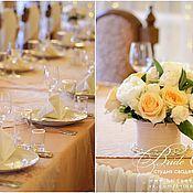 Свадебный салон ручной работы. Ярмарка Мастеров - ручная работа Нежная мягкая свадьба в бежевом и персиковом цвете. Handmade.