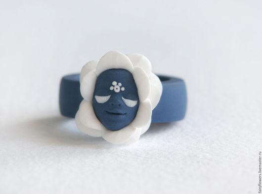 Кольца ручной работы. Ярмарка Мастеров - ручная работа. Купить Сказочное кольцо темно-синий  Волшебный Цветок. Handmade. волшебство