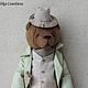 Мишки Тедди ручной работы. Ярмарка Мастеров - ручная работа. Купить Дэнни. Handmade. Коричневый, тедди, винтажный стиль, шляпа